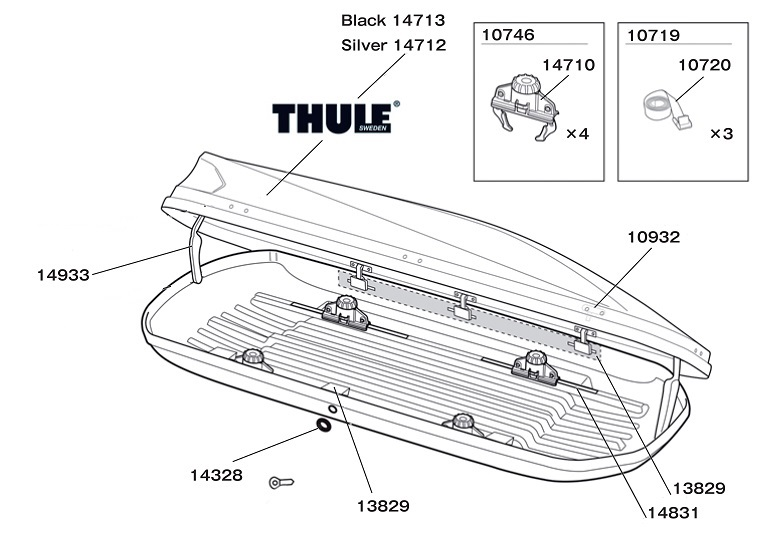Thule touring 100/200/600/700/780